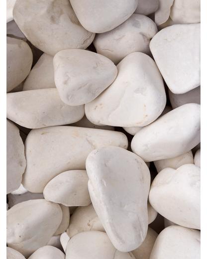 Piatra marmura slefuita alba 30-60 mm 25 kg
